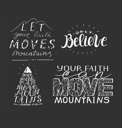4 hand lettering with biblical verses vector