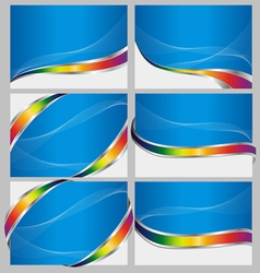 abstract blue back set vector image