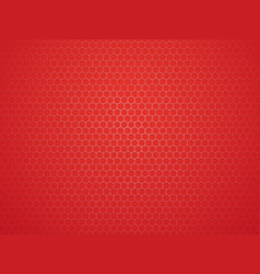 abstract red geometric hexagon background vector image