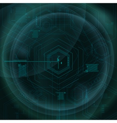 Abstract Technology Geometric Green Background vector image
