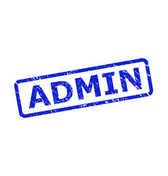 Admin seal with corroded texture and rounded rect vector