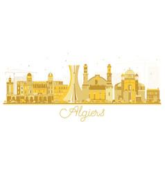 algiers algeria city skyline golden silhouette vector image