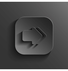 Arrow icon - black app button vector