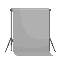 Background stand making a movie single icon in vector