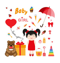 baicons for girls icon flat vector image