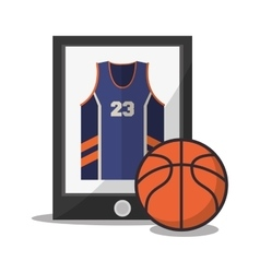 Ball of Basketball sport design vector image