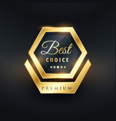 Best choice badge and label design vector