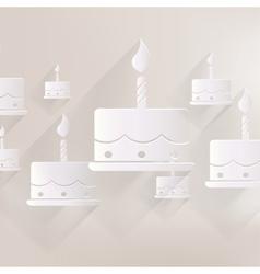 Birthday cake web icon vector image