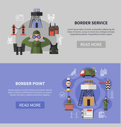 Border guard banners vector