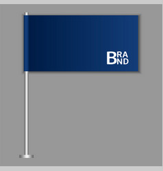 brand blue desktop flag icon realistic style vector image