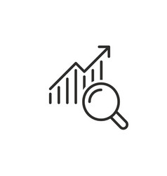business research icon vector image