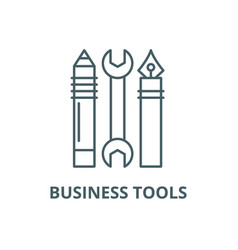 business tools line icon business tools vector image