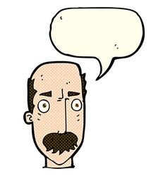 Cartoon annoyed old man with speech bubble vector