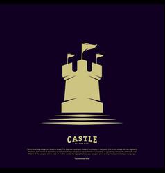 Castle logo design concept castle tower logo vector