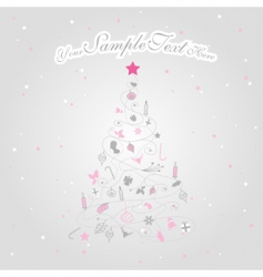 Christmas tree with stars vector image
