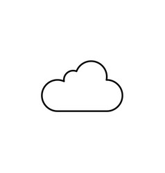 cloud data outline icon signs and symbols can be vector image