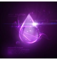 Collagen serum droplet vector image