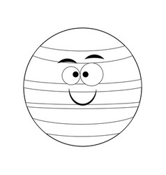 colorless funny cartoon neptune planet vect vector image
