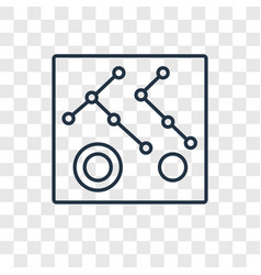 connection concept linear icon isolated on vector image
