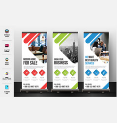 Corporate roll up banner vector