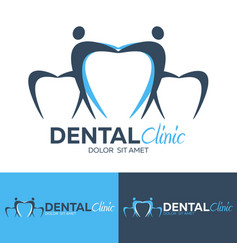 Dental logo dental clinic dentist logo vector