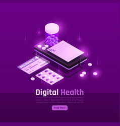 digital insurance pills background vector image