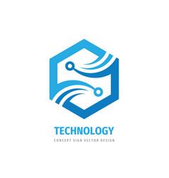 Digital technology logo concept design vector