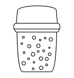Dirty water filter icon outline style vector