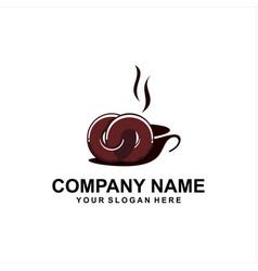 Donuts shop coffee logo vector