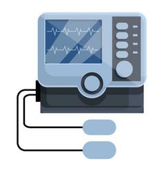 Electric defibrillator icon cartoon style vector