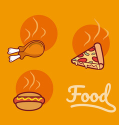 fast food cartoons vector image