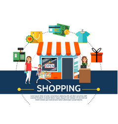 flat shopping concept vector image