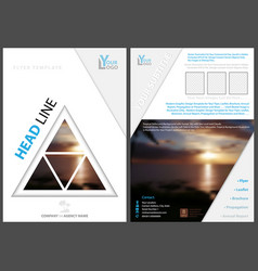 flyer template with triangle tropical background vector image