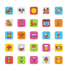 Food icons 4 vector