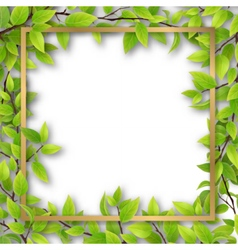 Frame overgrown tree branches vector