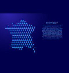 france map abstract schematic from blue christmas vector image