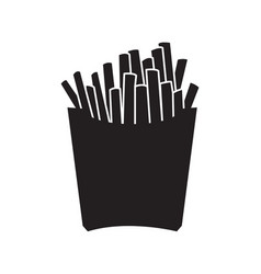 french fries silhouette vector image