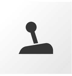 Gear lever icon symbol premium quality isolated vector