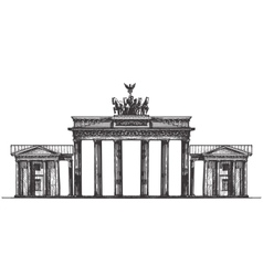 germany logo design template monument vector image