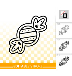 gingerbread cookie sweet candy line icon vector image