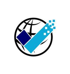 Global security logo design template vector