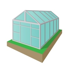 Greenhouse cartoon icon vector