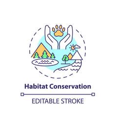 Habitat conservation concept icon vector