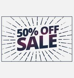 Half price sale banner voucher card design vector
