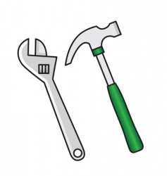 hammer wrench vector image vector image