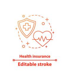 health insurance concept icon vector image