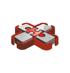 Health puzzle logo design template vector