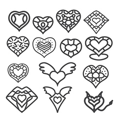 heart set 1 vector image