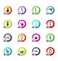 It is a set of barbershop icons set vector