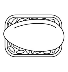 Japan sushi icon outline style vector